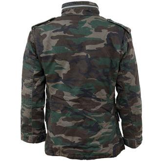 spring/fall jacket men's - M65 JACKE WASHED - SURPLUS - 20-3500-62