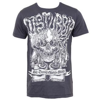 t-shirt hardcore men's - Mementomori - DISTURBIA - Charcoal