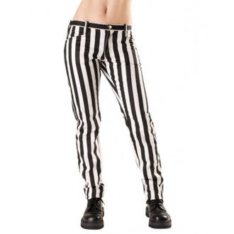 pants women Black Pistol - Close Pants Stripe Black / white - B-1-50-319-01