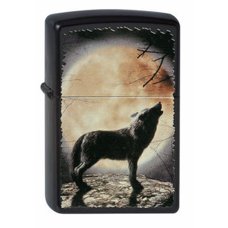 lighter ZIPPO - WOLF HOWLING TO THE MOON, ZIPPO