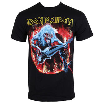 t-shirt metal men's Iron Maiden - Fear Live Flames - ROCK OFF - IMTEE07MB