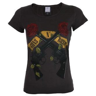 t-shirt metal women's Guns N' Roses - SHOOTING ROSES - AMPLIFIED, AMPLIFIED, Guns N' Roses