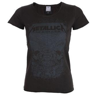 t-shirt metal women's Metallica - THE BLACK ALBUM - AMPLIFIED, AMPLIFIED, Metallica