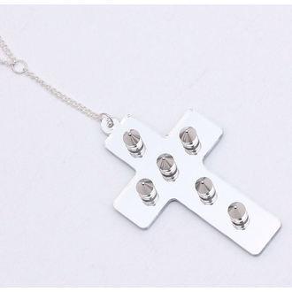 necklace Extreme Largeness - White Cross, Extreme Largeness