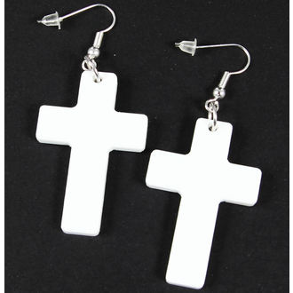 earrings Extreme Largeness - White Cross, Extreme Largeness