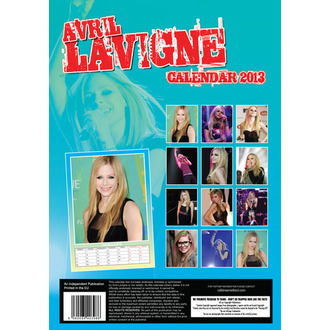 calendar to year 2013 Avril Lavigne, Avril Lavigne