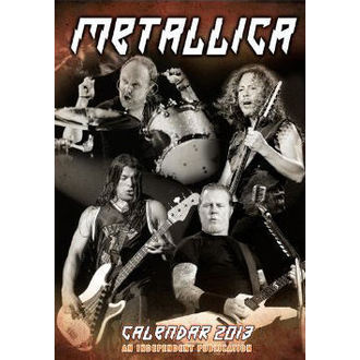 calendar to year 2013 Metallica, Metallica