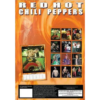 calendar to year 2013 - Red Hot Chili Peppers, Red Hot Chili Peppers