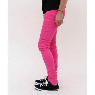 pants women HELL BUNNY - Super Skinny - Pink, HELL BUNNY
