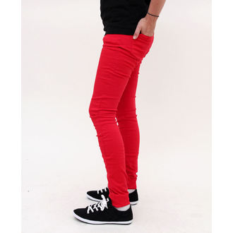 pants women HELL BUNNY - Super Skinny - Red, HELL BUNNY