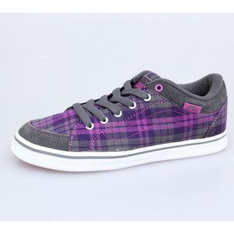 low sneakers women's - Skyla - VANS - Grey/Purple - VKXK6B1