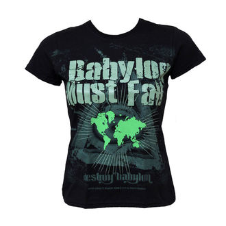 t-shirt hardcore women's - Babylon Must Fall - BLACK ICON - DICON003