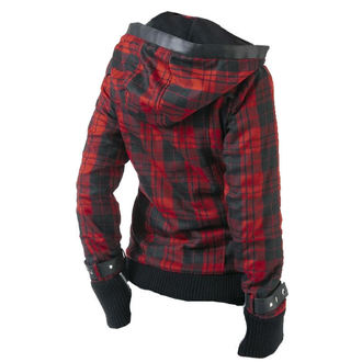 spring/fall jacket women's - Z Red Check - POIZEN INDUSTRIES, POIZEN INDUSTRIES