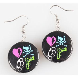 earrings POIZEN INDUSTRIES - BBBK Disc - Heartbreaker