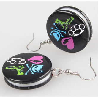 earrings POIZEN INDUSTRIES - BBBK Disc, BYE BYE KITTY