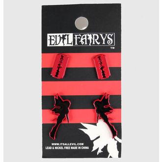 earrings POIZEN INDUSTRIES - EFES1 - Fairy & Razorblade, POIZEN INDUSTRIES