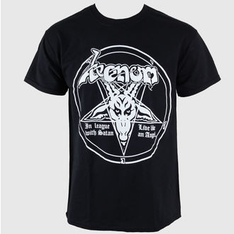 t-shirt metal men's Venom - In League With Satan - RAZAMATAZ
