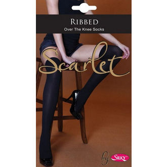 knee high socks LEGWEAR - Scarlet - Ribbed - SHSCOK0BL1