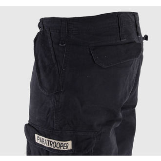 shorts men MIL-TEC - Paratrooper - Prewash Black - 11403002