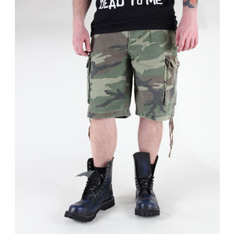 shorts men MIL-TEC - Paratrooper - Prewash Woodland