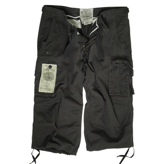 shorts men 3/4 MIL-TEC - Air Combat - Prewash Black, MIL-TEC