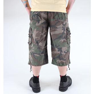 shorts men 3/4 MIL-TEC - Air Combat - Prewash Woodland - 11410020