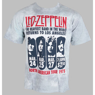 t-shirt metal men's Led Zeppelin - Zeppelin LA 1975 - LIQUID BLUE - 11813