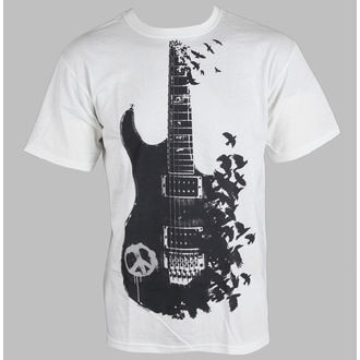 t-shirt men's - Crow Guitar - LIQUID BLUE - 21727