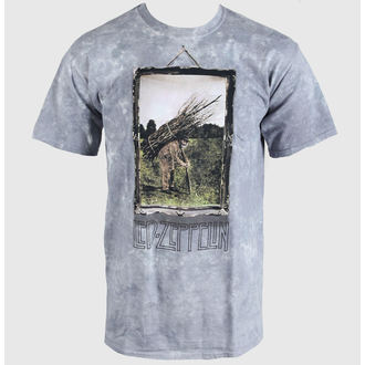 Metal T-Shirt men's Led Zeppelin - Man with Sticks - LIQUID BLUE - 61802