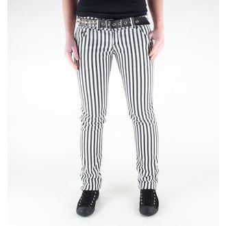 pants women's 3RDAND56th - Stripe Skinny - JM444 - Black-WHITE
