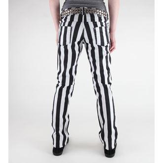 pants women's 3RDAND56th - 1 Stripe Skinny Jeans - JM1111 - Black-WHT