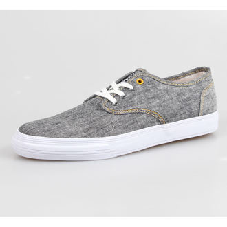 low sneakers men's - The Winston Vucanized Sneaker - IRON FIST - Charcoal Grey Chambray/White