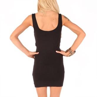 dress women IRON FIST - Reina Muerte Sequin - Black