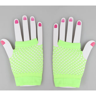 gloves fingerless POIZEN INDUSTRIES - NSD Fishnet - N.Green