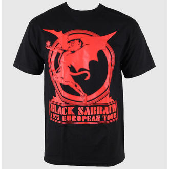 t-shirt metal men's Black Sabbath - Europe 75 Tour - BRAVADO - 34191007