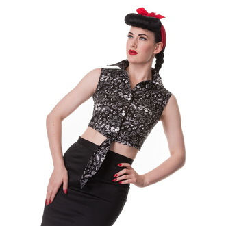 shirt (vest) women's HELL BUNNY - Bandana - Black, HELL BUNNY