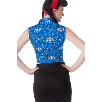 shirt (vest) women's HELL BUNNY - Bandana - Blu, HELL BUNNY