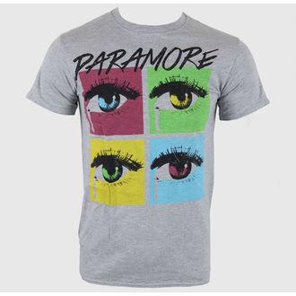 t-shirt metal men's Paramore - Pop Tear Sports Grey - LIVE NATION, LIVE NATION, Paramore