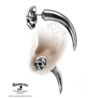 earrings Tomb Skull Horn - ALCHEMY GOTHIC - E320