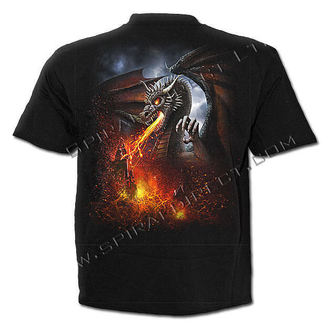 t-shirt men's - Dragon Lava - SPIRAL - L014M101