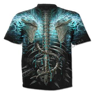 t-shirt men's - Flaming Spine - SPIRAL - W016M105