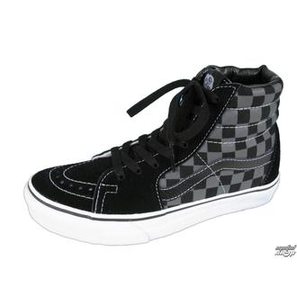 high sneakers women's - VANS - Black/Pewter Checkerboard