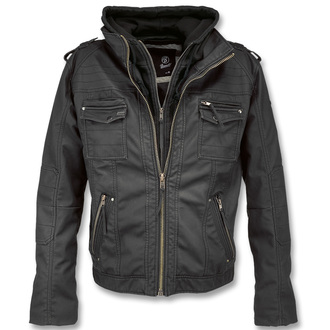 jacket men spring/autumn BRANDIT - Black Rock Black - 3119/2