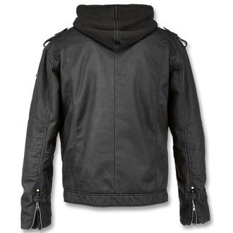 jacket men spring/autumn BRANDIT - Black Rock Black - 3119/2