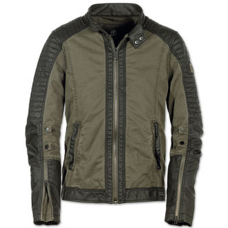 spring/fall jacket men's - Road King Vintage Black/Oliv - BRANDIT - 3128-black