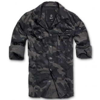 shirt men BRANDIT - Men Shirt Slim Darkcamo, BRANDIT