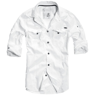 shirt men BRANDIT - Men Shirt Slim Weiss - 4005/7
