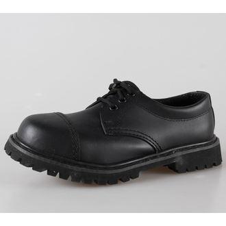 boots leather 3 eyelets BRANDIT - Phantom Black