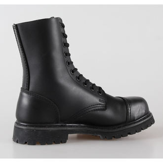 boots leather 10 eyelets BRANDIT - Phantom Black - 9002/2