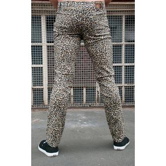 pants men 3RDAND56th - Leopard Skinny Jeans - Natural Leo - JM1150